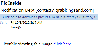 simple image download email phishing scam