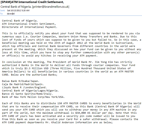 typical nigeria email scam